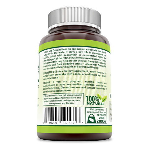 Image of Herbal Secrets Lutein with Zeaxanthin 40 Mg 60 Softgels