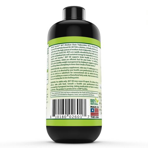 Image of Herbal Secret 100% Pure MCT Oil, 16 Fl Oz (Non-GMO) - Helps in Weight Management * Maintain Lean Muscle Tissue* Supports Brain and Immune Health