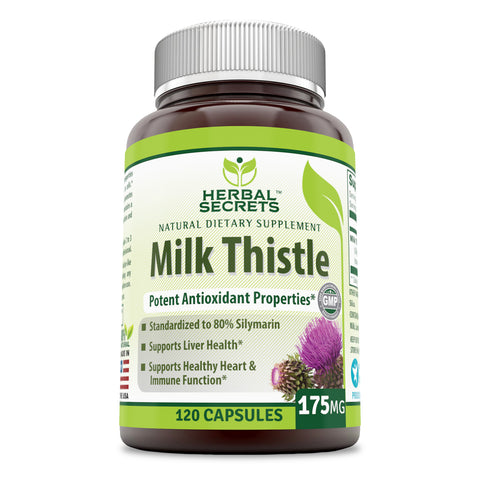Herbal Secrets Milk Thistle 175 Mg 120 Capsules