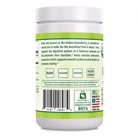 Herbal Secrets USDA Certified Organic Amla Powder 16 oz