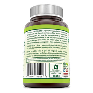 Herbal Secrets Organic Ashwagandha 750 Mg 120 Tablets
