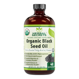Herbal Secrets Organic Black Seed Oil 8 Fl Oz (236 Ml)