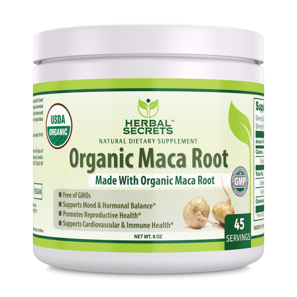 Herbal Secrets Organic Maca Root Powder 8 Oz