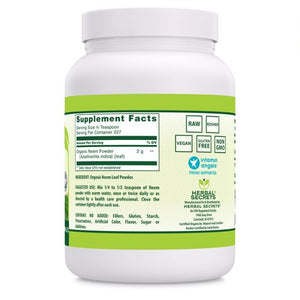 Herbal Secrets Organic Neem Powder 16 Oz