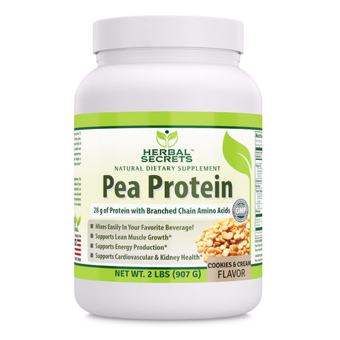 Image of Herbal Secrets Pea Protein 2 Lbs Cookies & Cream