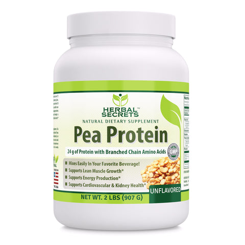 Image of Herbal Secrets Pea Protein UnFlavored 2 Lbs (907 Gram)