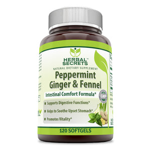 Herbal Secrets Peppermint Ginger & Fennel 120 Softgels
