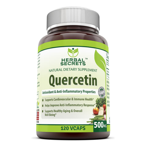 Herbal Secrets Quercetin 500 Mg 120 Vegetarian Capsules