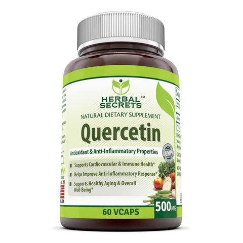 Herbal Secrets Quercetin 500 Mg 60 Veggie Capsules