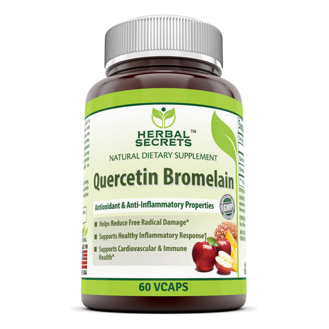 Image of Herbal Secrets Quercetin 800 Mg with Bromelain 165 Mg 60 Veggie Capsules