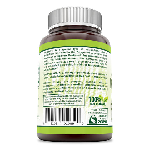 Herbal Secrets Resveratrol 250 Mg 60 Veggie Capsules