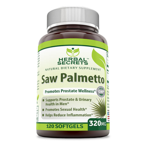 Herbal Secrets Saw Palmetto 320 Mg 120 Softgels