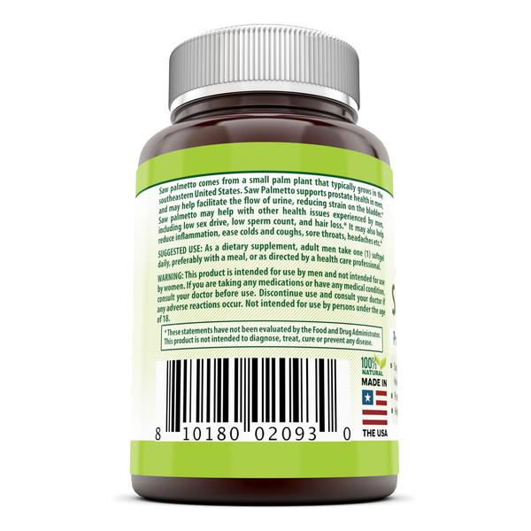 Herbal Secrets Saw Palmetto Supplement 320 Mg 90 Softgels