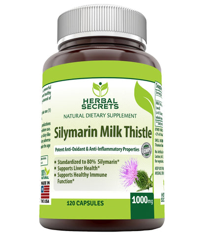 Herbal Secrets Silymarin Milk Thistle 175 Mg 120 Capsules