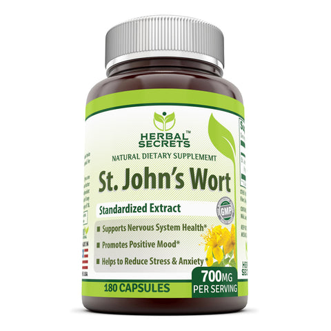 Herbal Secrets St. John's Wort 700 Mg 180 Capsules