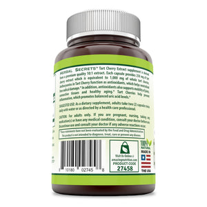 Herbal Secrets Tart Cherry Extract 1000 Mg 120 Capsules