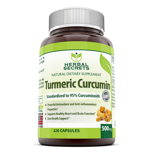 Herbal Secrets Turmeric Curcumin 500 Mg 120 Capsules