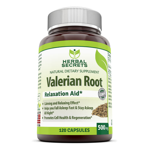 Herbal Secrets Valerian Root 500 Mg 120 Capsules