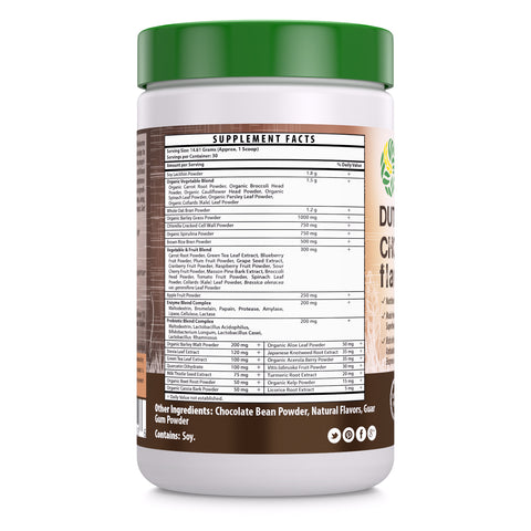 Image of Wholesome Greens Super Food Greens Dutch Chocolate Flavor - 8.5 oz - Amazing Nutrition