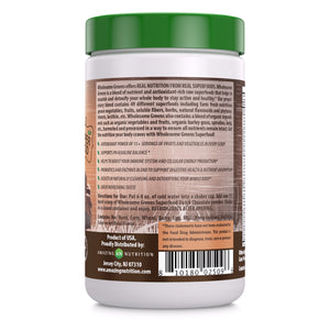 Wholesome Greens Super Food Greens Dutch Chocolate Flavor 8.5 Oz