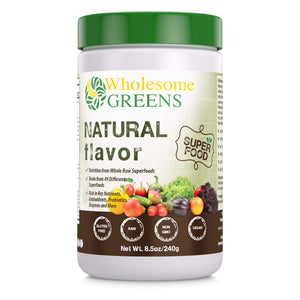 Wholesome Greens Super Food Natural Flavor - 8.5 oz - Amazing Nutrition