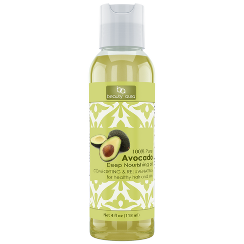 Beauty Aura Avocado Oil 4 Fl Oz 118 Ml - Amazing Nutrition