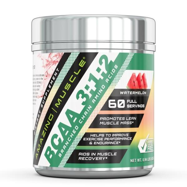 Amazing Muscle BCAA 3:2:1 with Natural Flavor & Sweetners - 60 Servings (Pina Coloda)