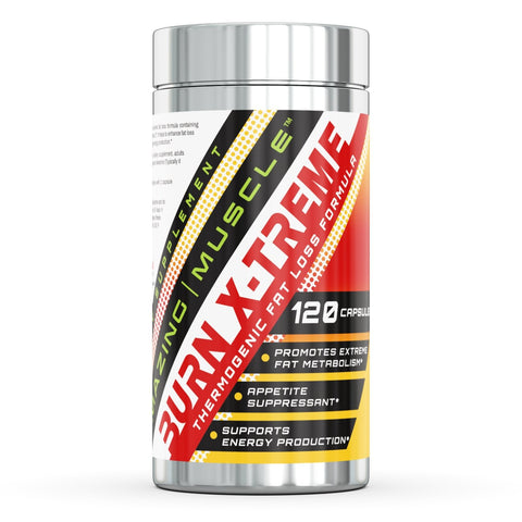 Amazing Muscle Burn X-Treme Complete Thermogenic Formula - 120 Capsules - 30 Servings - Provides a Huge Metabolism Boost, Aids in Energy Protection - Controls Appetite