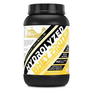 Amazing Muscle Hydrolyzed Whey Protein Isolate 3 Lbs Banana Flavor