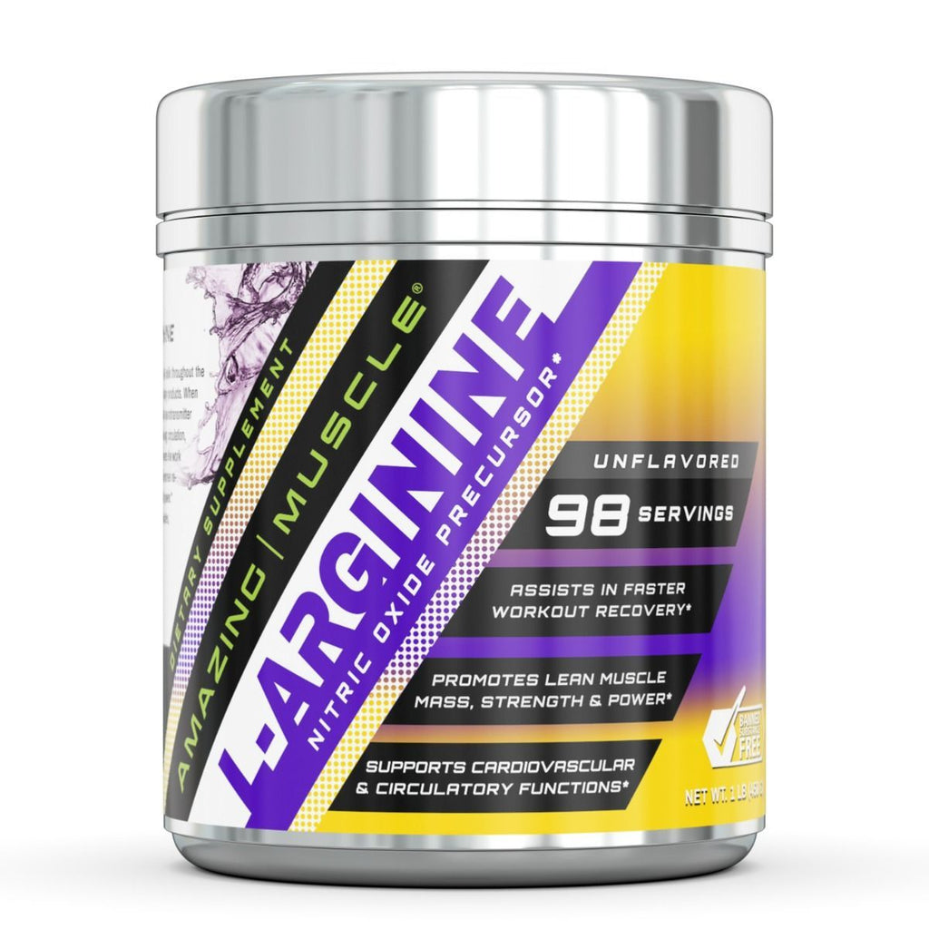 Amazing Muscle L Arginine Essential Amino Acid Powder 1 Lb Unflavored