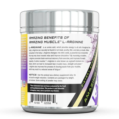 Image of Amazing Muscle L Arginine Essential Amino Acid Powder 1 Lb Unflavored