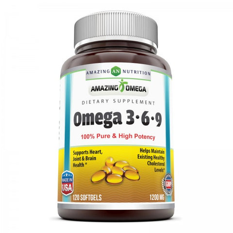 Amazing Omega 3.6.9 1200 Mg 120 Softgels