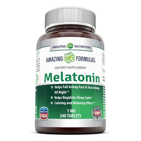 Image of Amazing Formulas Melatonin 1 Mg 240 Tablets - Amazing Nutrition