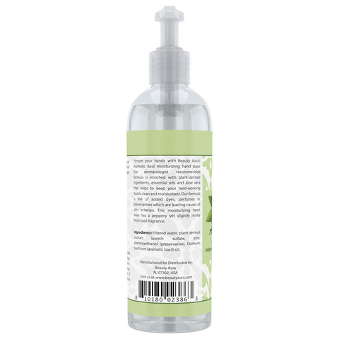 Image of Beauty Aura Aromatic Basil Moisturizing Hand Soap 16 Fl Oz 473 Ml