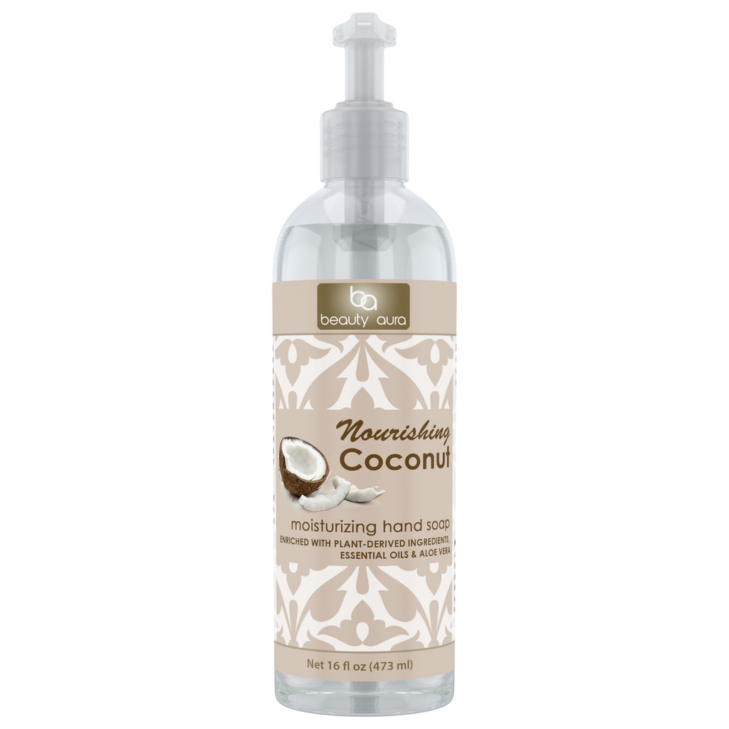 Beauty Aura Nourishing Coconut Moisturizing Hand Soap 16 Fl Oz 473 Ml