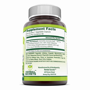 Herbal Secrets EGCG Green Tea Extract 400 Mg 90 Capsules