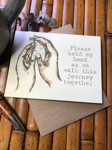 149-Please hold my hand . . .
