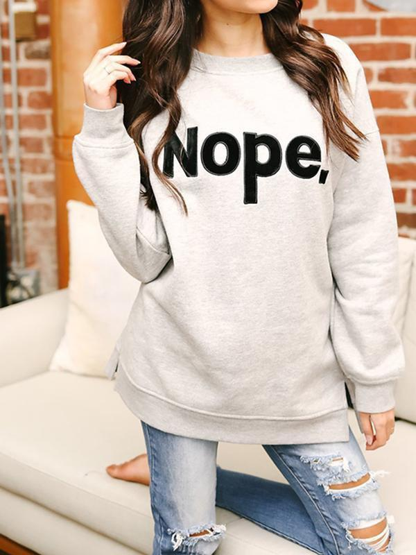 Amazingbe.com Hoodies & Sweatshirts Grey / S Plus Velvet Three-Dimensional Stickers Sweater