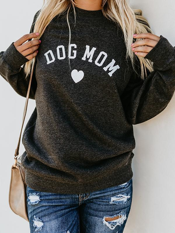 Amazingbe.com Sweatshirts&Hoodies Black / S Dog Mom Letter Love Sweatshirt