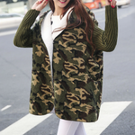 Dadichic.com Clothing Army-Green-Camouflage / One Size Warm Plush Knit Coats