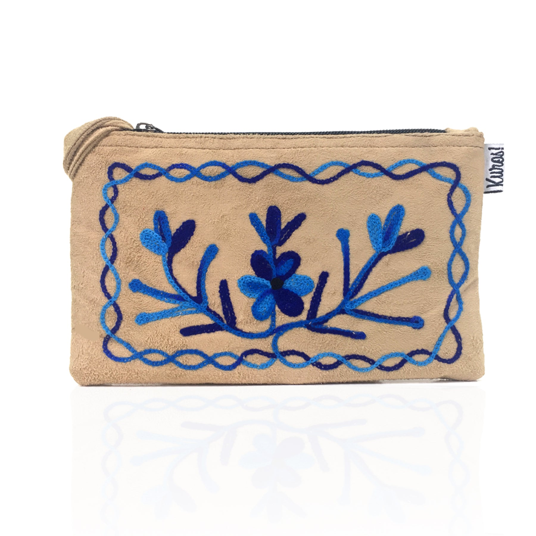 Dusty Indigo Himalayan Collection Wristlet