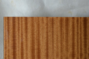 laminated glass mahogany wood veneer