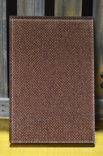 Gold/Brown Diamond Sparkle Metallic Mesh OrganicA™ Laminated Glass Fabric
