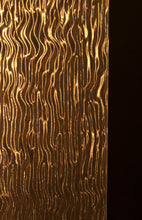 gold backsplash glass panel