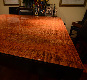 laminated glass wood veneer glass table