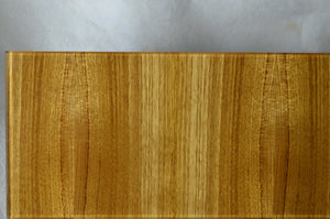 glass wood veneer finish