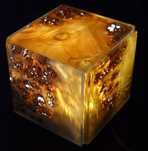 translucent glass laminated wood light