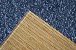 laminated glass rift white oak wood veneer