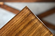 walnut laminated glass panel