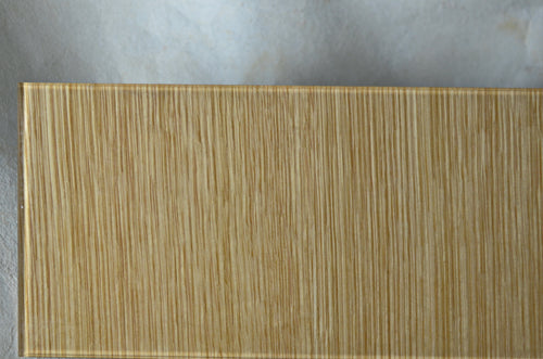glass wall laminated wood veneer